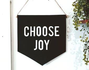 Choose Joy Wall Flag