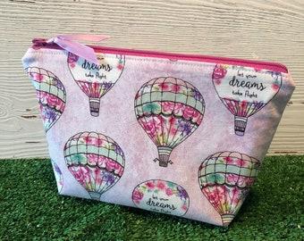 Hot air balloon makeup bag/zipper pouch