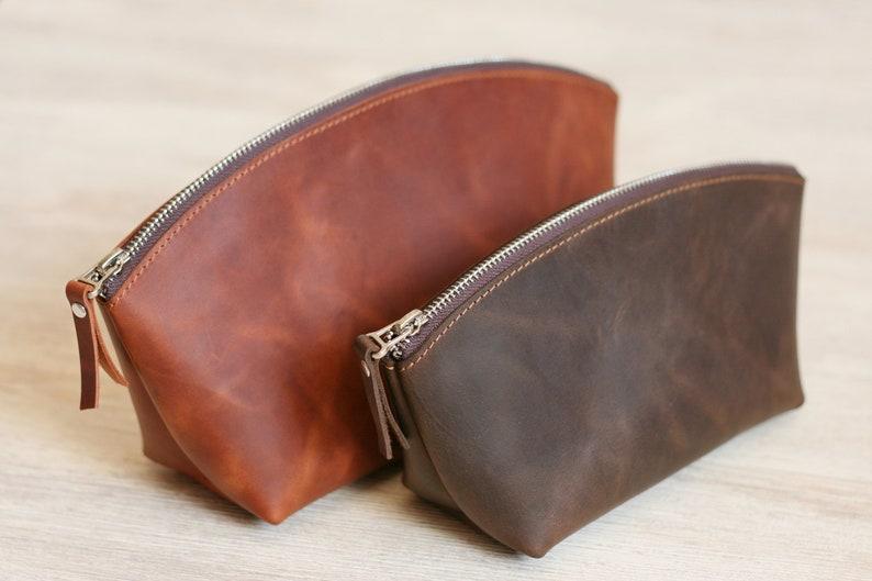 cec63454f7bc Makeup Bag Personalized Makeup Bag Leather Makeup Bag Cosmetic bag Makeup  Organizers Makeup case Gift