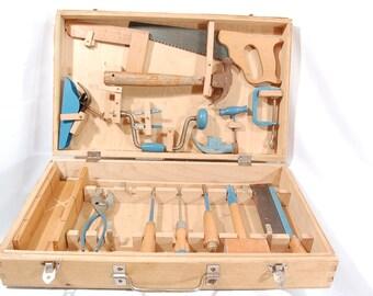 Vintage 1970's  Handy Andy Child's Carpenters Tool Set #174