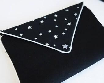 Black Star pouch Jewelry Silver