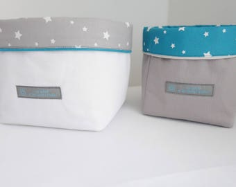 Set of 2 baskets starry night Collection Turquoise - free shipping *.