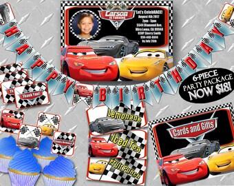 CARS 3 INVITE Printable Digital Cars Invitation Invite Party Decorations Birthday