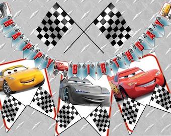 Cars Birthday Banner Printable