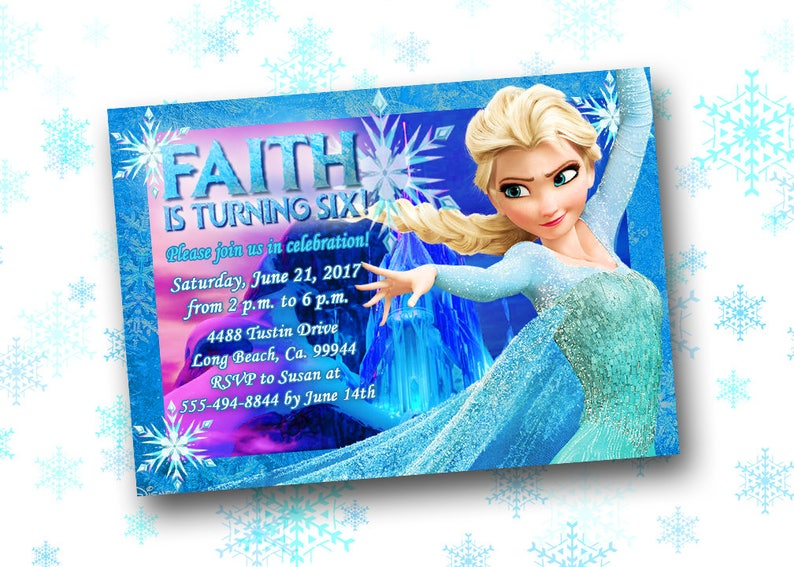 image regarding Frozen Birthday Card Printable identified as Frozen Birthday Invitation Printable Frozen Social gathering Invitation Frozen Get together Invite Frozen Birthday Printables Frozen Bday Decorations