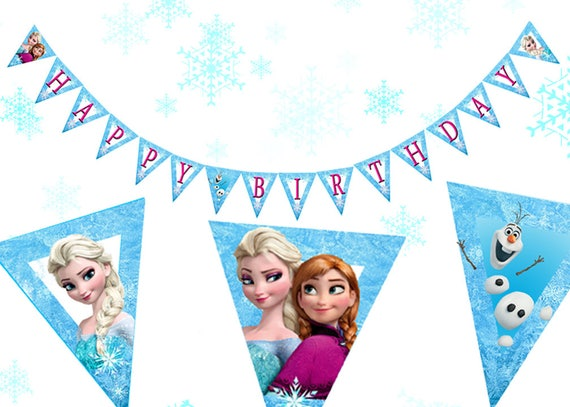 graphic about Frozen Banner Printable identified as Frozen Birthday Banner Printable Frozen Delighted Birthday Banner Frozen Birthday Decorations Frozen Get together Printables Frozen Social gathering Decor