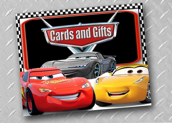 CARS 3 BIRTHDAY Party Sign Printable Digital Cars Birthday