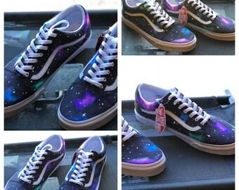 Galaxy vans shoes | Etsy