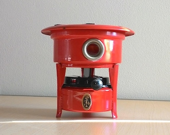 Vintage 1960 French Plate cooker for fondue, chocolate, etc.