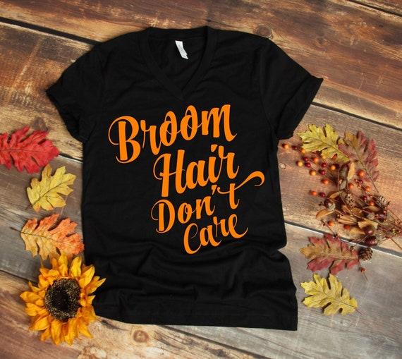Halloween Tee - Broom Hair / Don't Care