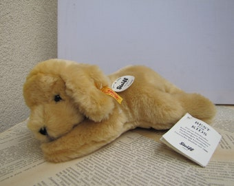 Puppy Golden Retriever Stuffed Toy Steiff Retriever Stuffed Puppy Lumpi Retriever Stuffed Puppy with Steiff Ear Button and Steiff Name Tag