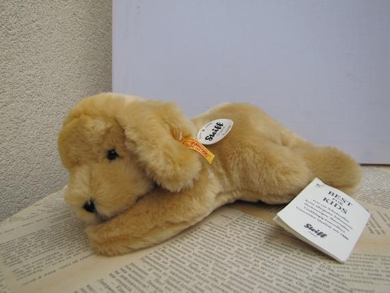 Puppy Golden Retriever Stuffed Toy Steiff Retriever Stuffed Etsy