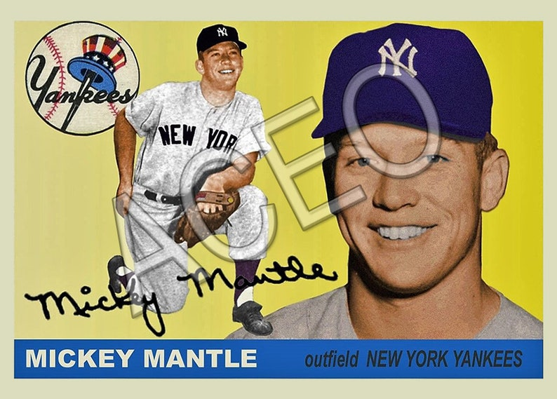 Bulk Lot 1955 Mickey Mantle Custom Card 203 Rp