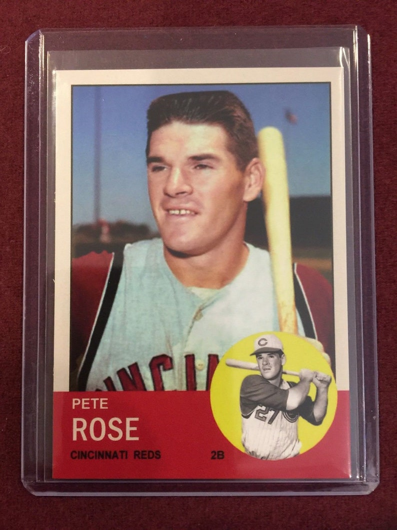Bulk Lot 1963 Topps Aceo 578 Pete Rose Rookie Card