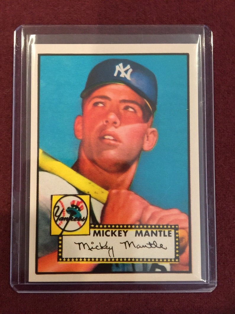 Bulk Lot 1952 Topps 311 Mickey Mantle Rc Rookie Rp Cards