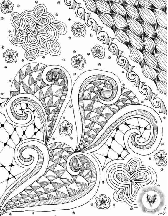 Página para colorear para imprimir abstracto al azar | Etsy