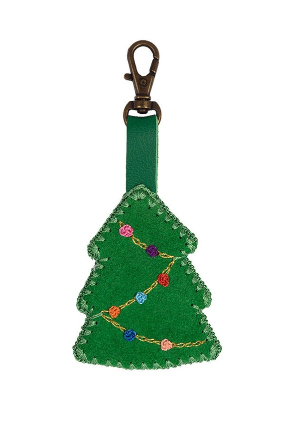 Weihnachtsbaum Geschenk Tasche Schlüsselanhänger Wildleder | Etsy