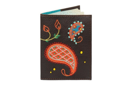 World Travel Gifts Colorful Passport Cover Paisley 2-pack Full Color Passport Covers Wallet Multi