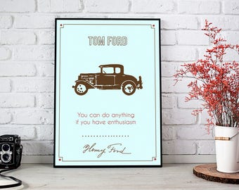Henry Fords Quote Inspirational Wall ArtMotivational Print Home Decor Office