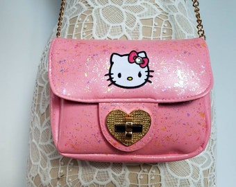 c635db4f76 Hello Kitty purse. Hello Kitty shoulder bag. Pink purse. Hello Kitty. Gift  for her. Hello Kitty bag. Small pink purse