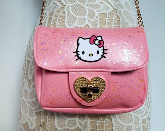 b477bb2abb11 Hello Kitty purse. Hello Kitty shoulder bag. Pink purse. Hello Kitty. Gift  for her. Hello Kitty bag. Small pink purse