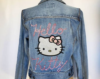 f92433bdf Hello Kitty. Hello Kitty jacket. Denim jacket. Hello Kitty denim. Bling Hello  Kitty. Pink Hello Kitty. Missy small Hello Kitty jacket