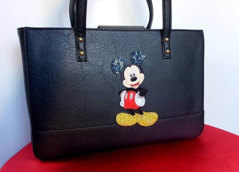 Bling Mickey Mouse purse vegan leather purse.