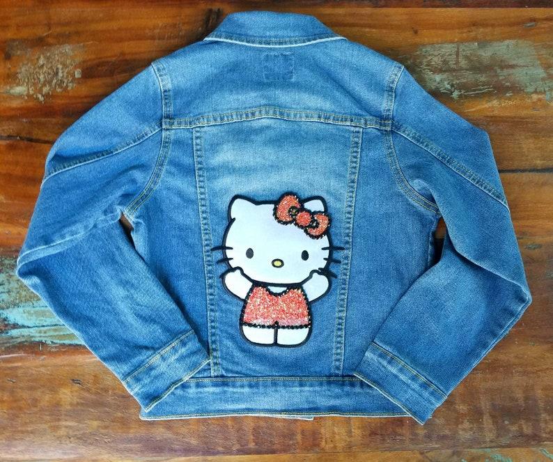 bcadec5be Hello Kitty denim jacket. Girls Hello Kitty jacket. Girls | Etsy