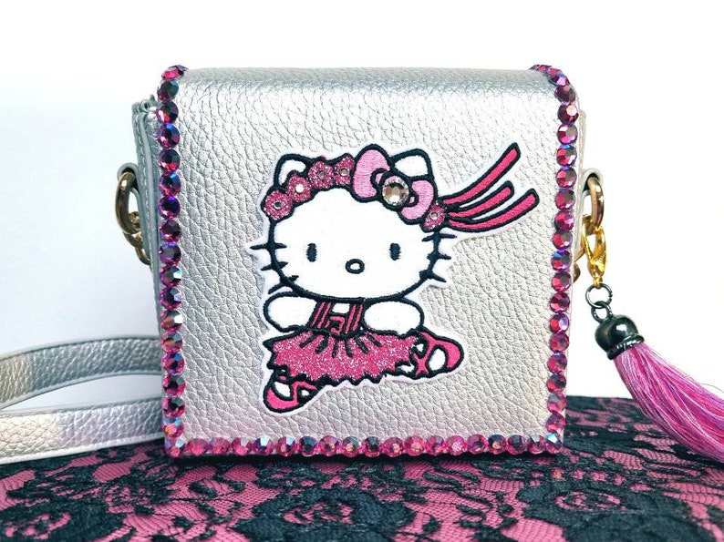 Hello Kitty purse. Ballerina purse. Hello Kitty. Gift for her. Crossbody bag.  Unique purses. Hello Kitty bag. Small Hello Kitty purse e77f4ea499158