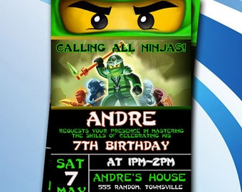 Ninjago Birthday Invitation/Ninjago Birthday Invites/Ninjago Birthday Party/Ninjago Birthday Printable/Ninjago Invitation Printable/Ninjago