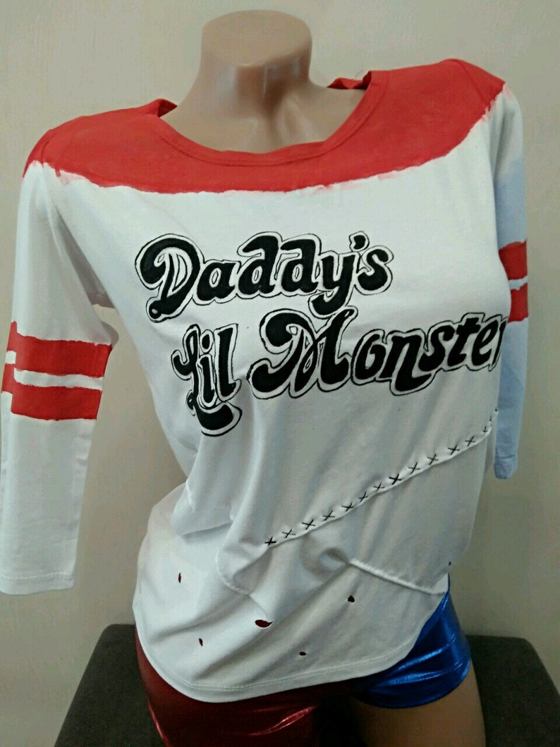 Suicide Squad Harley Quinn ~Daddy/'s Lil  Shirt S-xxl Costume Cosplay