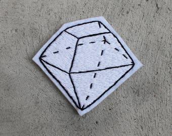 Geometric Diamond Hand Embroidery Patch