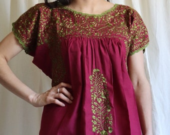 Long Boho Dress for Women / Mexican Folk Dress / San Atonino Dress / Embroidery dress, Long Boho Summer Dress