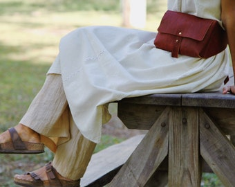 Handcrafted real Leather Bum Bag, Handmade Pack Bag, Leather cross body bag, Mexican leather bag