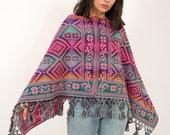 Embroidered Cape Boho Poncho Top Unique clothing brand bohemian clothing for women folk shawl Eco clothing conscious clothing