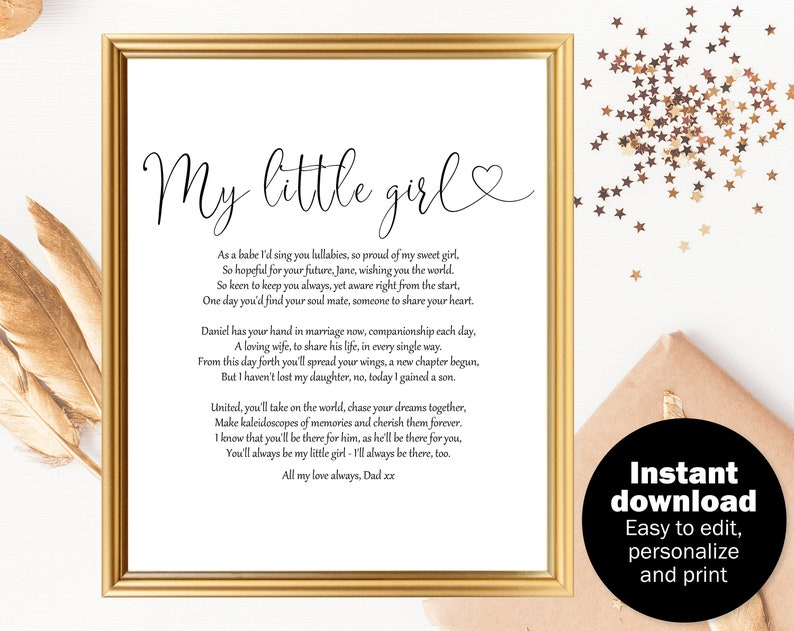 Poem For Daughter On Wedding Day