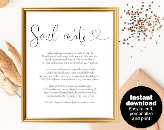 Wedding Gift Poem For Husband Wedding Day Gift For Groom Etsy