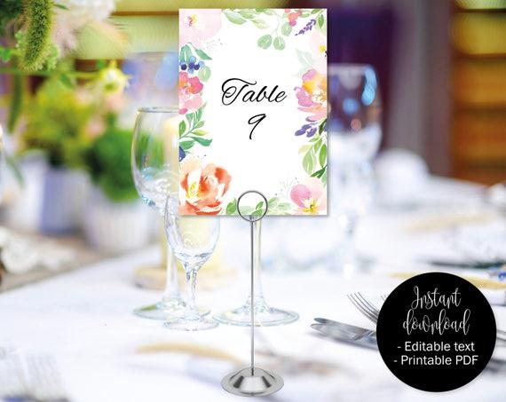 Wedding Table Numbers Wedding Table Names Wedding Template Etsy