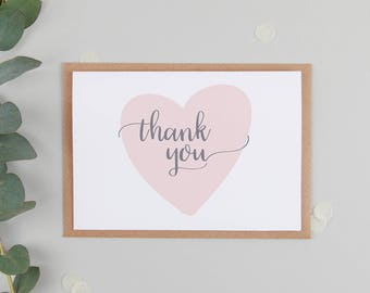 Thank You Card - Wedding Thank You Card - Thank You Card For Friend - Thank You Card Baby Shower - Thank You Card Packs Available