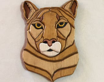 Cougar Carving Etsy