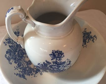 Maddocks Works Lamberton Royal Porcelain Pitcher and Basin