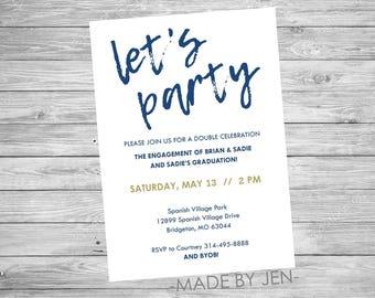 bbq party invitation company email invitation 5x7 or custom etsy