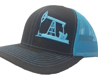 new products 130fd 57fa9 Richardson 3D Puff OilField Drilling Rig Snapback Hat, Trucker Cap,  Adjustable Custom Hat for both Women and Men