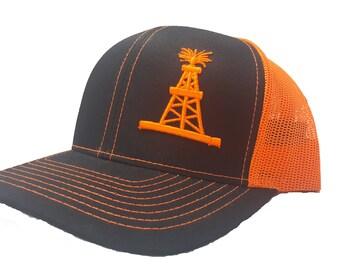 Richardson 3D Puff OilField Oil Rig Tower Snapback Hat  d5fbab5ceba
