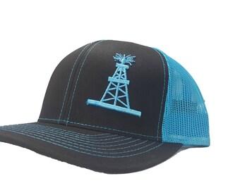 detailing cde40 26735 ... 50% off richardson 3d puff oilfield oil rig tower snapback hat trucker  cap adjustable custom