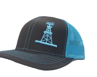 Richardson 3D Puff OilField Oil Rig Tower Snapback Hat 33654e48eaa