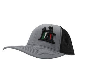 reputable site 23245 e51c6 Richardson 3D Puff OilField Drilling Rig Mexico Flag Snapback Hat, Trucker  Cap, Adjustable Custom Hat for both Women and Men