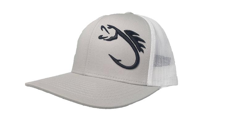 7cbe5a9b6e40bf Richardson 3D Puff Fishing Hook Snapback Hat Trucker Cap | Etsy