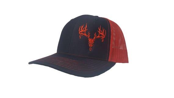 Custom Snapback Hats for Men /& Women Animal Deer Head Embroidery Cotton Snapback