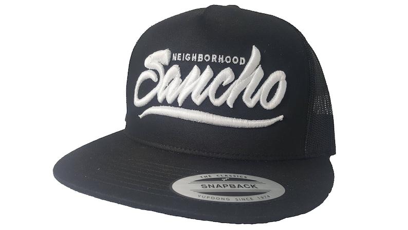 24180618f9b Yupoong 3D Puff Neighborhood Sancho Snapback Hat Trucker Cap